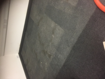A half cleaned carpet