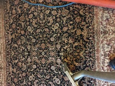 A half cleaned rug