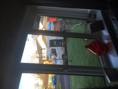 Looking out of the window in Creigiau